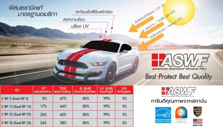 ฟิล์มรถยนต์ ASWF รุ่น Excel IRP