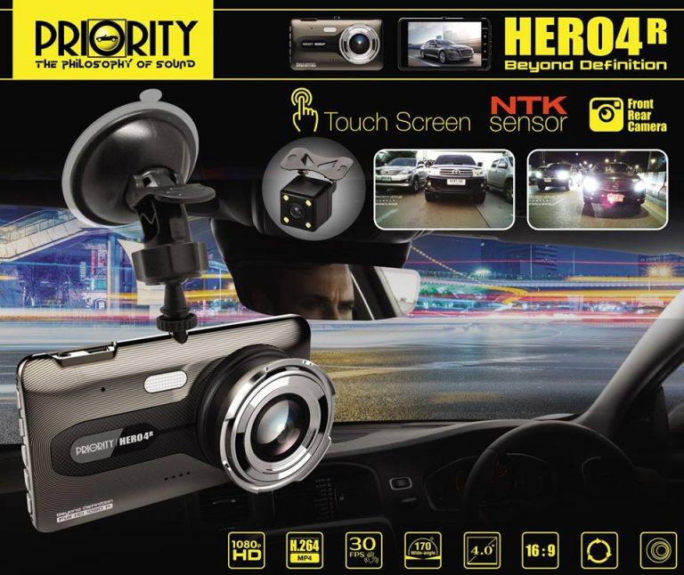 กล้องบันทึกหน้า Priority HERO4R
